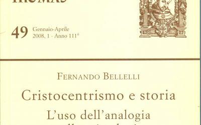 """Rivista teologica di Lugano – """"Cristocentrismo e storia"""""""